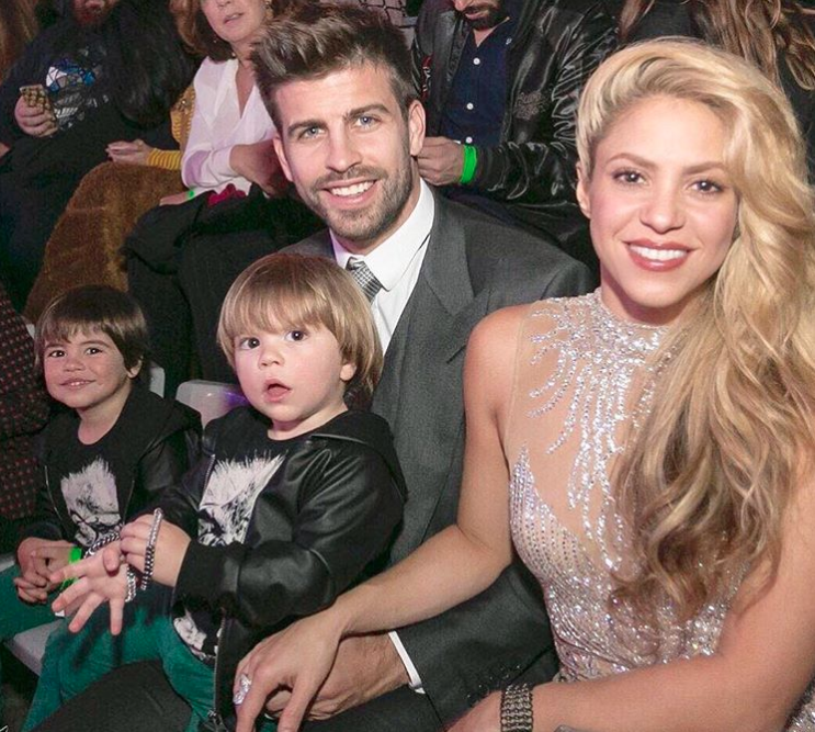 Image result for shakira with pique and children