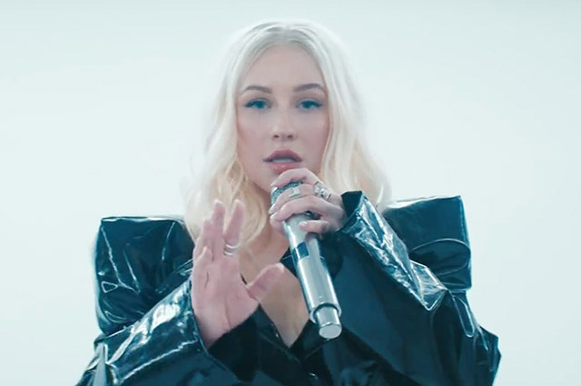 Christina Aguilera and Demi Lovato presented a video for the song ... 64d3e3d5485