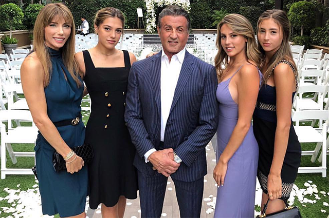 In full lineup: Sylvester Stallone shared family photos ...