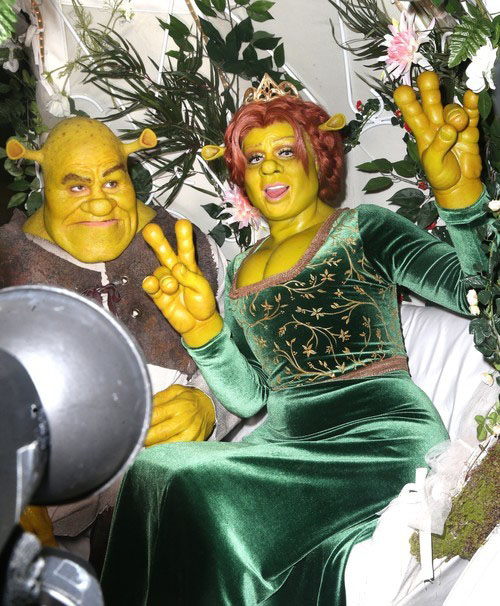 Heidi Klum Halloween Shiva.Heidi Klum And Tom Kaulitz Dressed Up In Fiona And Shrek On
