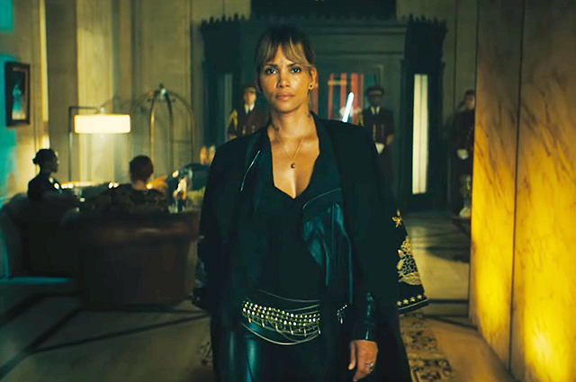 "Keanu Reeves and Halle Berry in the trailer for the movie ""John Wick"