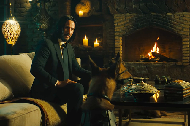 """Keanu Reeves and Halle Berry in the trailer for the movie """"John Wick"""