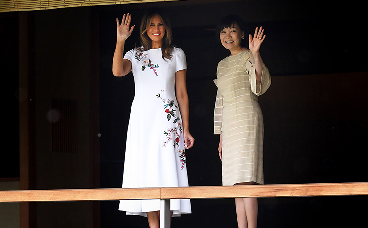 Melania Trump Looks Stunning In A $4,290 Dress As She Takes In Japanese Culture With Trump