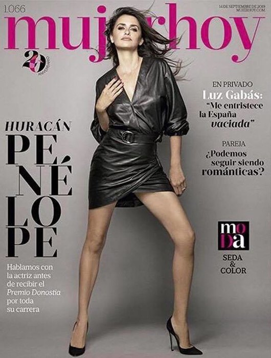 Penelope Cruz in extreme mini appeared in a defiant pose on